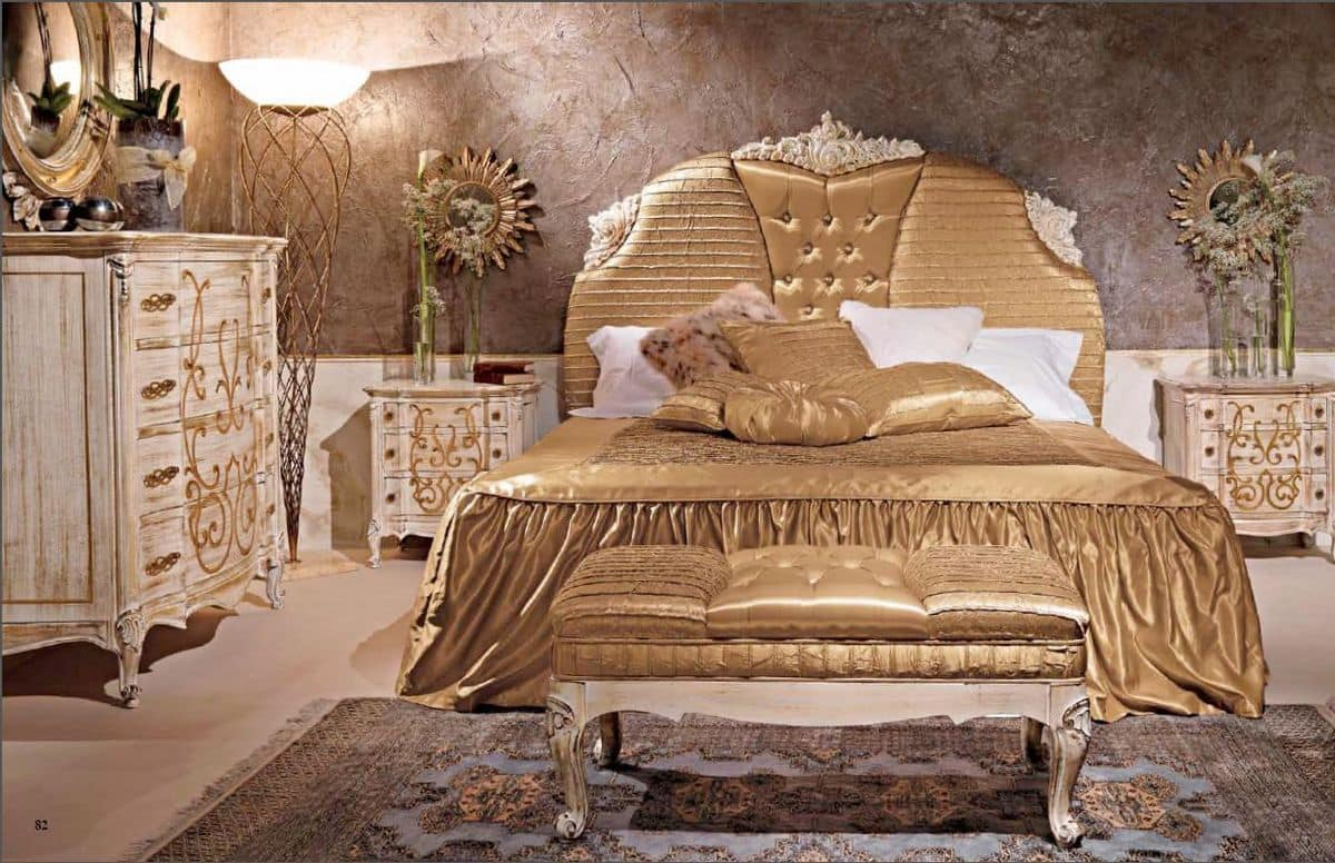 Art. 950, Classic bed with upholstered headboard for hotel