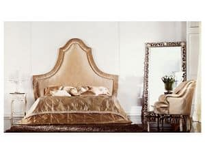 Athena, Wooden double bed with large dimensions