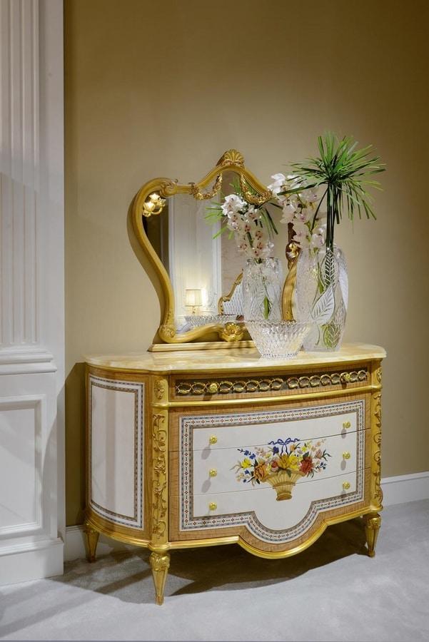 Bed 3700 Louis XVI style, Louis XVI style luxury bed