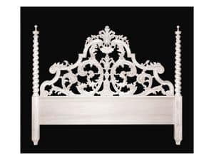 Bed art. 75/a Special, Classic style bed with headboard with two columns