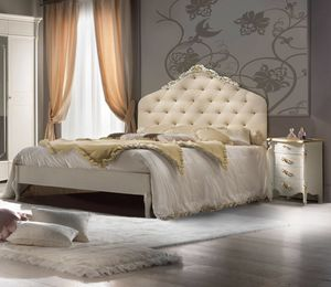Bellini Art. 423, Bed with tufted headboard