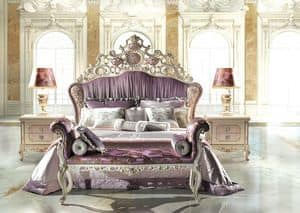 Bijoux C/741, Bed with padded headboard, Classic style