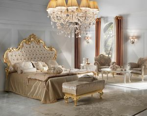 Diamante Art. 2102, Bed with tufted headboard