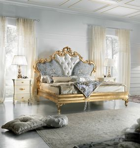 Diamante Art. 2401, Luxurious gold finished bed