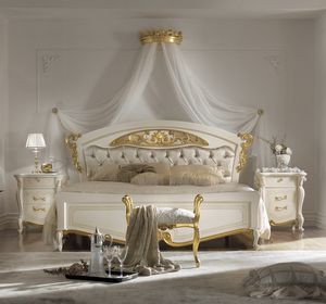 Fenice Art. 1302 - 1304, Bed with capitonn� headboard
