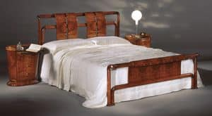 Flory bed, Bed in olive ash burl, satin polishing