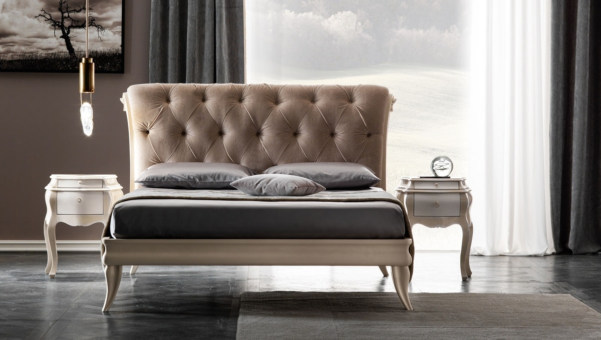 Gaston Art. 918 - 918-T, Upholstered bed with capitonné technique