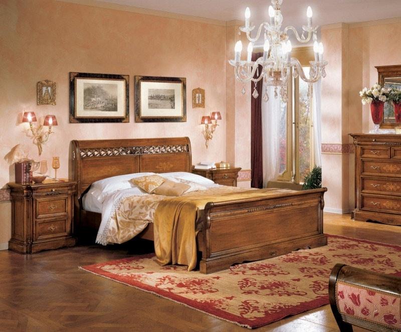 I Dogi di Venezia DOGI-E615, Bed with inlaid panels