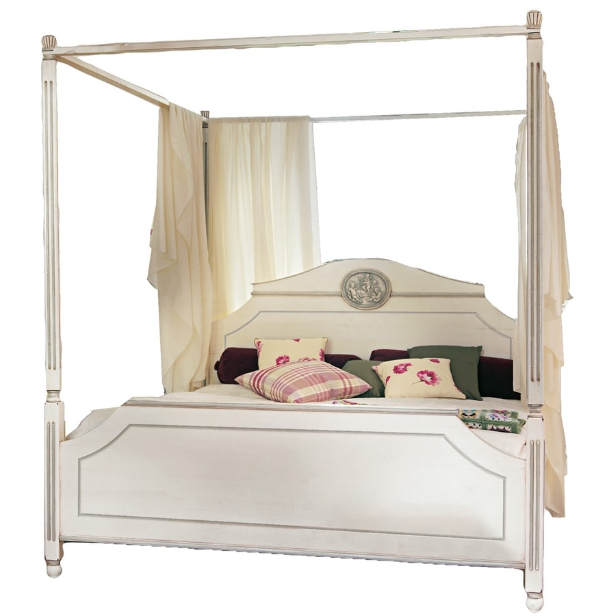 Isabelle BR.0501, Bed with backrest and footrest, classic style