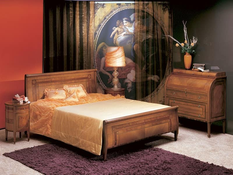 L304 Renoir bed, Double bed, bent wood, classic style