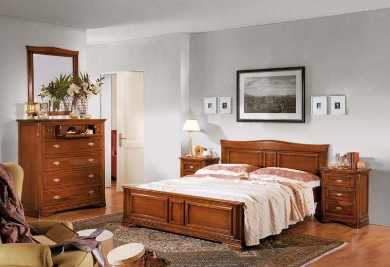 La Maison MAISON624T, Double bed with shaped headboard