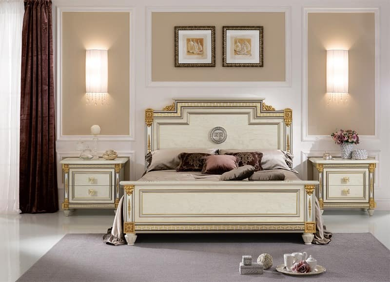 Liberty bed, Luxury bed in classic stlye, with handmade decorations, high quality materials