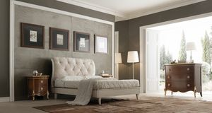 Li� white lacquered bed, Classic bed, white lacquered