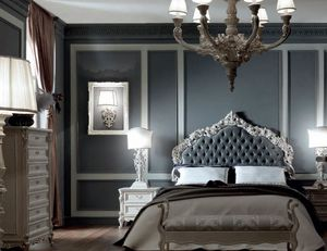 Luigi XVI Art. TES03, Bed with tufted headboard