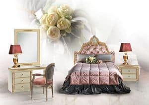 Primula, Single luxury bed, upholstered headboard tufted