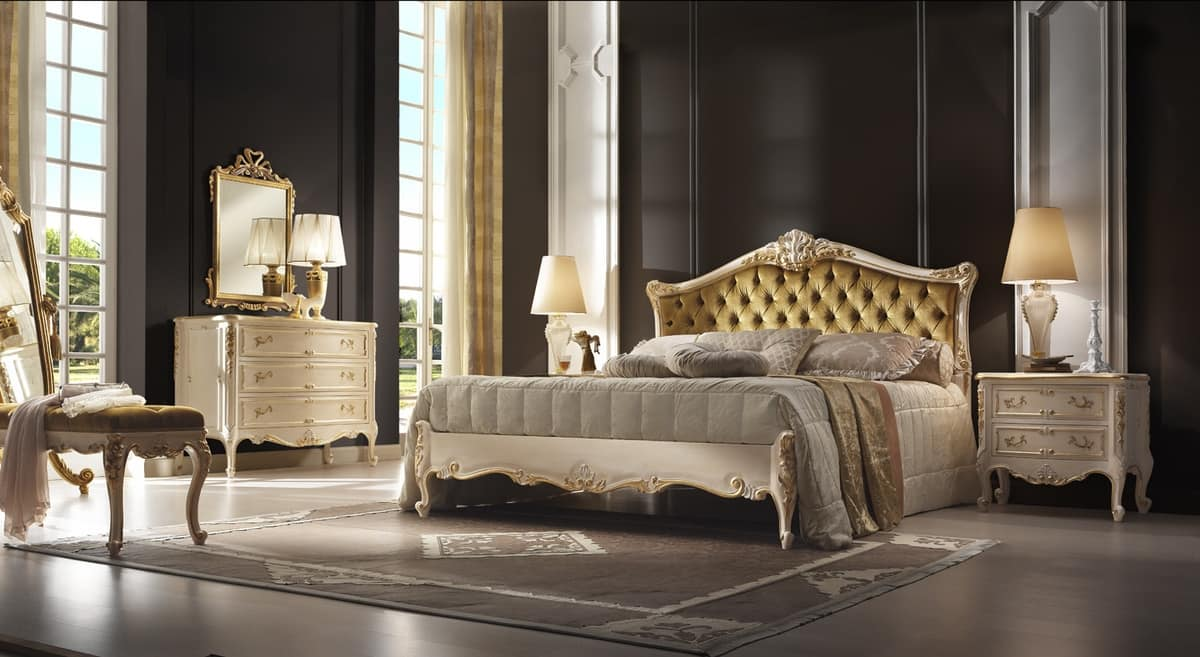 R45 / bed, Luxurious bed with romantic style