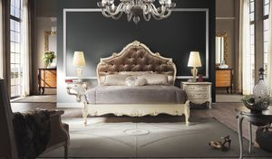 R67 / bed, Bed with precious handicraft decorations