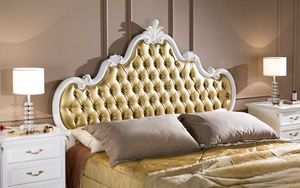 Regency maxi bed, Classic bed with tufted headboard
