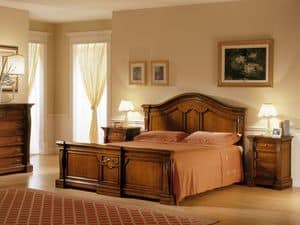 REGINA NOCE / Double bed, Double bed in painted wood, style bedroom