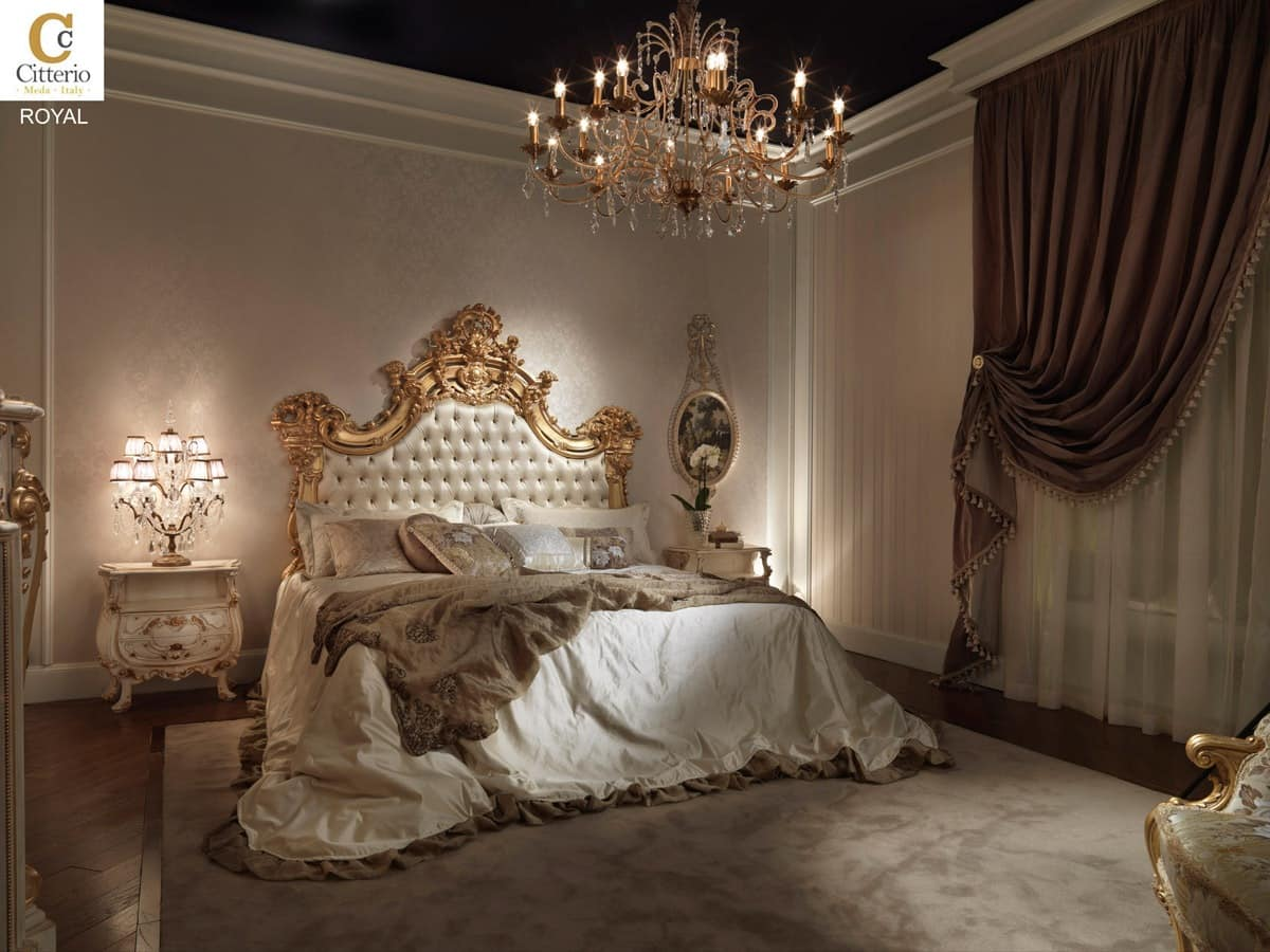 Royal, Bedroom In Solid Wood In Classic Style