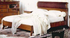 Rubino RB.0240, Walnut bed with padded headboard