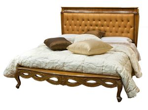 Russeau RA.0823, Walnut bed with carved frame