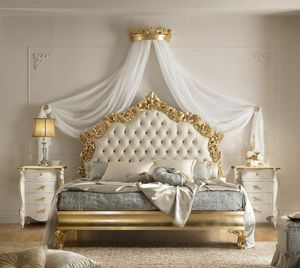 Verdi Art. 781 - 783, Bed with finely carved headboard