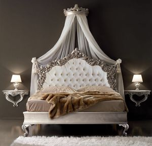 Vivaldi Art. 791 - 793 - 798, Carved bed, capitonn� headboard
