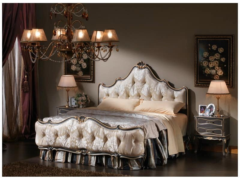 3465 BEDSIDE TABLE, Bedside in louis xv style, Cracrè finish, for bedroom