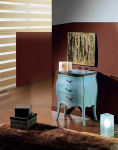 Arcobaleno nightstand, Bedside table in lacquered wood