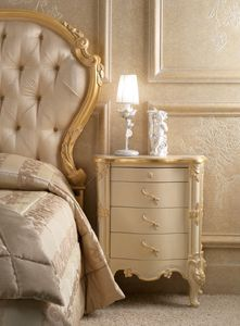 Art. 0189, Carved bedside table for classical style rooms
