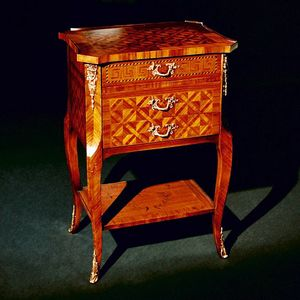 Art. 108 Diamante, Bedside table with diamond-shaped decorations