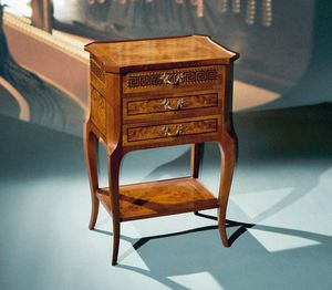 Art. 108/N Greca, Classic bedside table with 3 drawers