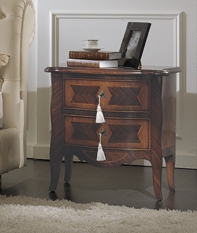 ART. 2709, Classic bedside table with 2 drawers