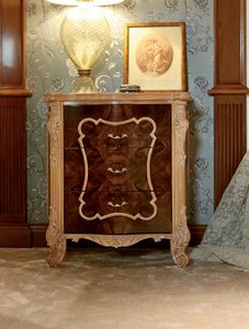 Art. 462, Classic bedside table, with carved legs