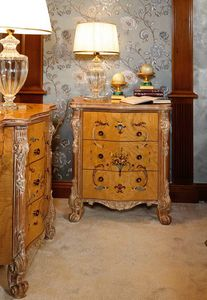 Art. 472, Luxurious inlaid and carved bedside table