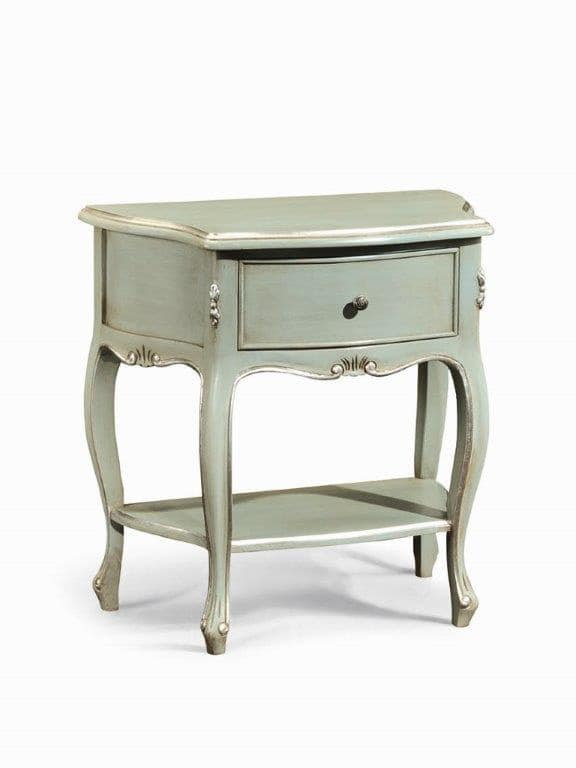 Art. 740, Bedside table with 1 shelf and 1 drawer, in classic style