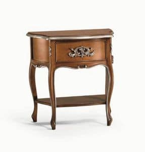 Art. 756, Bedside table with sinuous legs, for domestic use