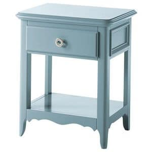 Art. AX720, Bedside table with 3 drawers with metal handle