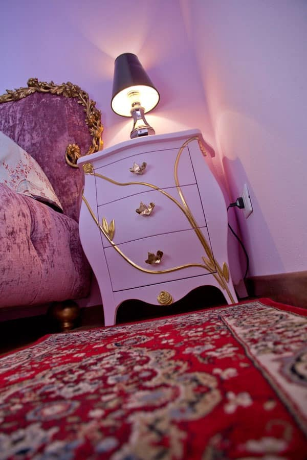 Bedside table Grace B, 3 drawer bedside in classical style
