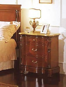 Canova bedside table, Nightstand with Real Yellow top, for luxurious hotels