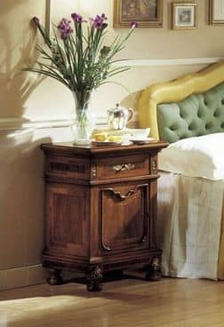 GRANDUCATO / Bedside table, Classic bedside table in walnut for Bedroom