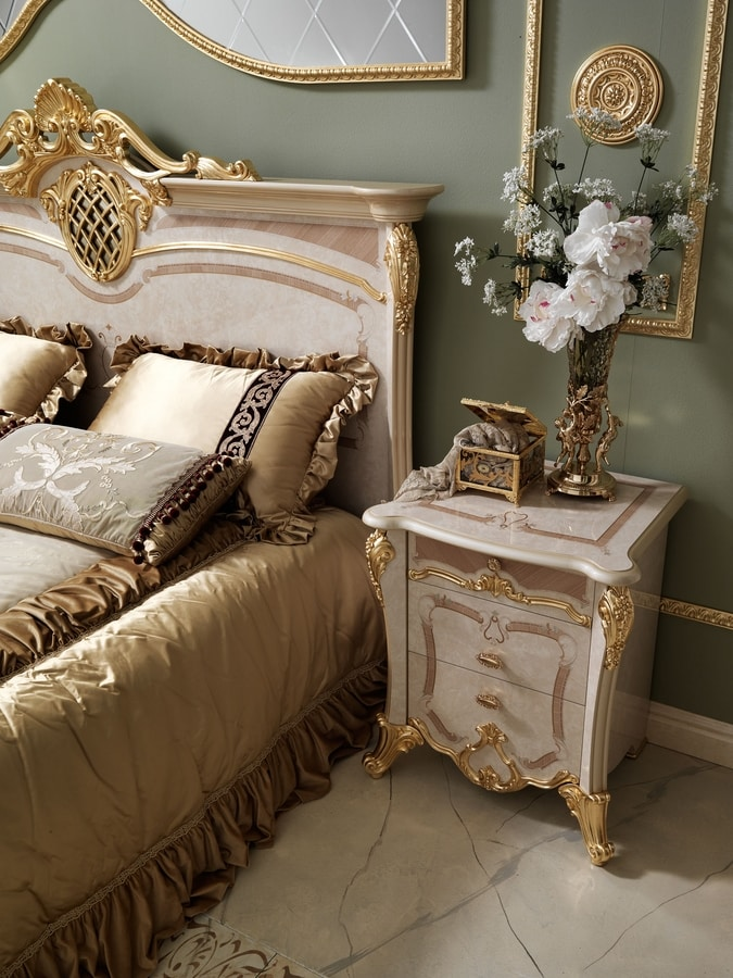 Isabelle nightstand, Classic style bedside table