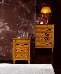 L'origine nightstand, Bedside table with original inlays