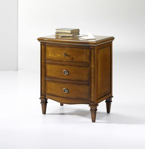 M 163, Bedside table with decorative inlays