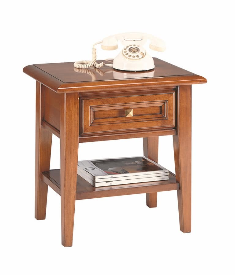 Mediterranea nightstand, Bedside table for classic hotel rooms