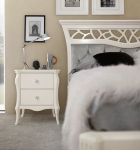 MONTE CARLO / nightstand, Bedside table for glamor bedrooms
