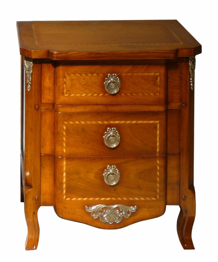 Nimes VS.2041.A, Bedside table 700 French regency with three drawers