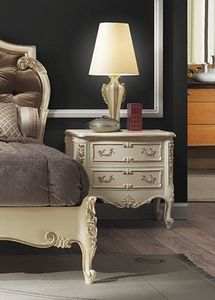 R67 / nightstand, Luxury bedside table in lacquered wood