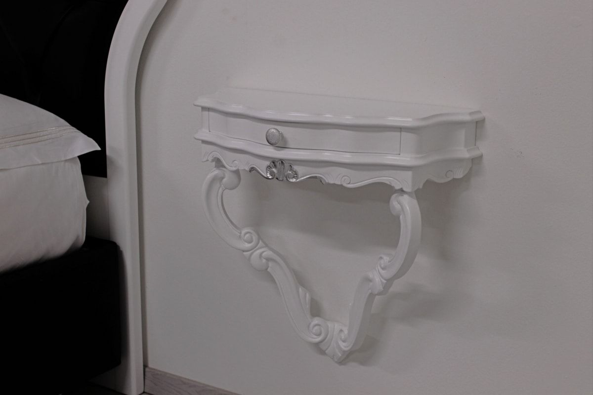 Sara, Classic design bedside table, with drawer